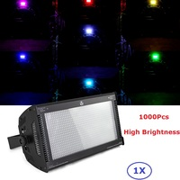 New 1000W RGB Full Color Stage Led Strobe Light Tri Color Mixing High Power Club Flash Lights DMX512 Control 3pin/5pin Socket