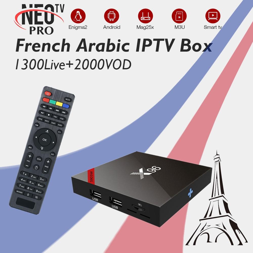X96W Arabic IPTV France IPTV Neo IPTV 1300Live 2000VOD Amlogic S905W 1G 8G 2G 16G WiFi