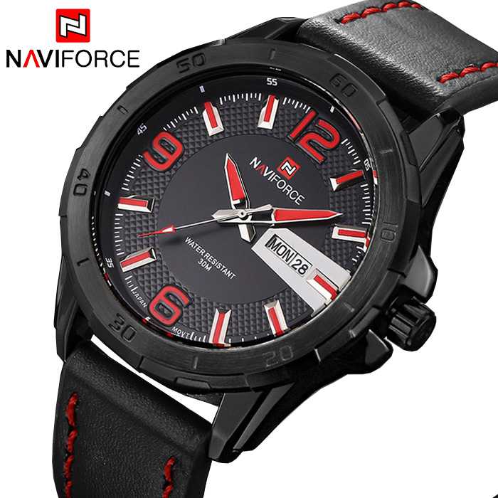Top Brand NAVIFORCE Luxury Men Army Military Watches Men's Quartz Analog Clock Fashion Leather Sports Watch Relogios Masculino luxury brand pagani design waterproof quartz watch army military leather watch clock sports men s watches relogios masculino