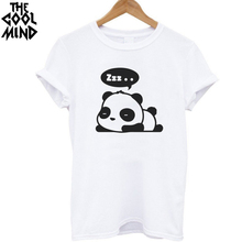 THE COOLMIND Top quality Cotton Sleeping Panda T-Shirt for women