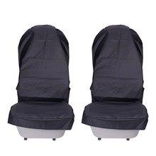 Водонепроницаемый сидений автомобиля ткань Оксфорд автомобильной переднего сиденья протектор колодки 2 предмета прочный салона Аксессуары