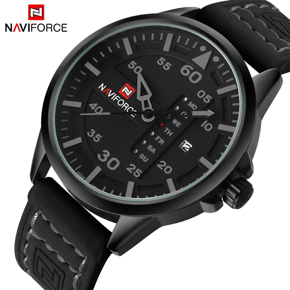 Top Luxury Brand NAVIFORCE Men Sports Watches Men's Quartz Date Clock Man Leather Army Military Wrist Watch Relogio Masculino 2016 top luxury brand sports watches men leather analog date quartz clock man army military wrist watch relogio masculino