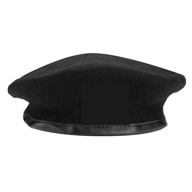 e7e2a11b50d5f Nova Unisex Chapéu Tampão Militar Sem Emblema Do Exército Soldado Homem  Mulher Chapéu de Lã Vintage
