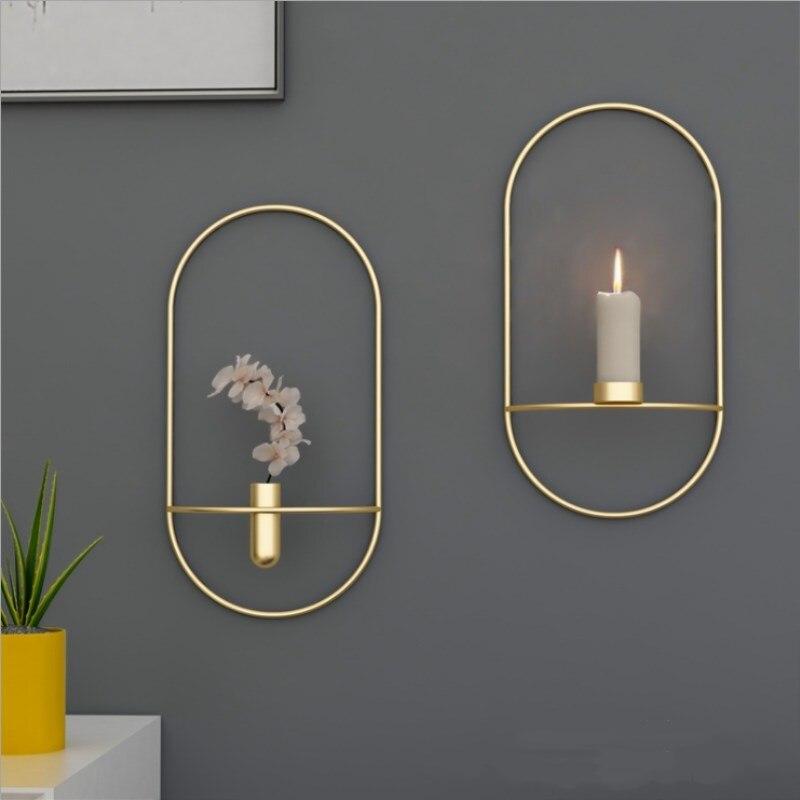 Modern Creative Minimalist Geometric Lines Candlestick Square Bracket Moroccan Ornament Decoration