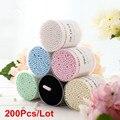 6 Colores 200 unids Hermosa Hisopos de Algodón Doble Cabeza Bastoncillos de Algodón Maquillaje Removedor de Limpieza Tampones Cosméticos Mujeres Cuidado de La Salud