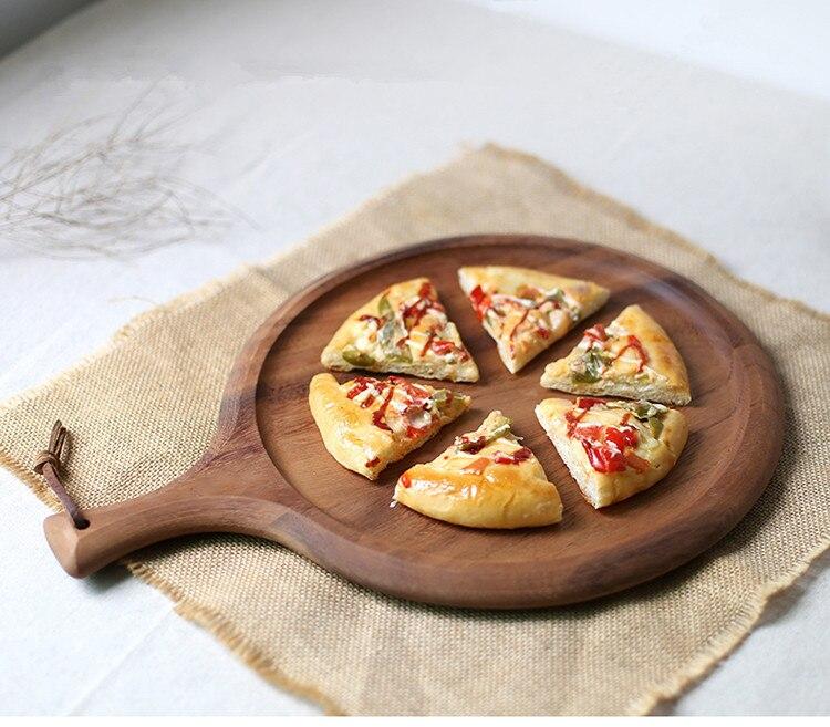Madeira de acácia Casca Da Pizza Pá