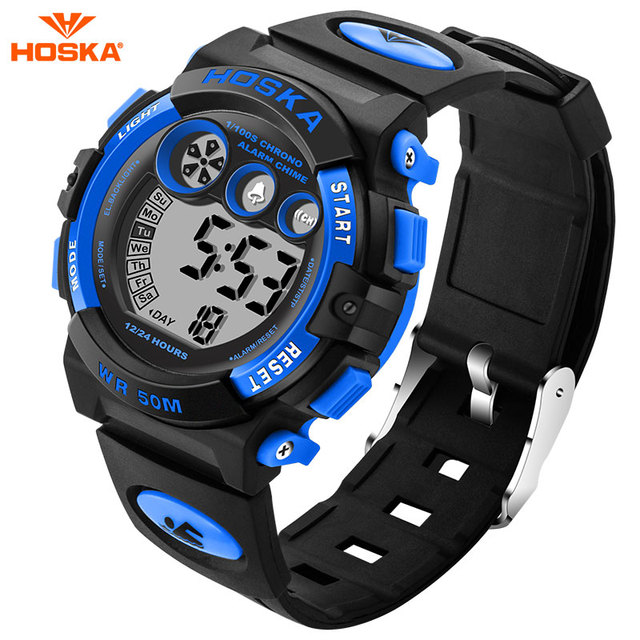 HOSKA Children Watch Fashion Casual Outdoor Sport Watches Waterproof boys girls Students Digital Watch for kids gift h002