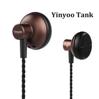 Newest Yinyoo Tank Earbud In Ear Earphones Flat Head Plug Earphone HiFi Bass Earbuds DJ Earbud