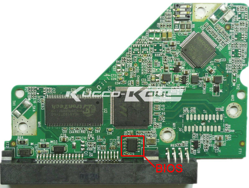 HDD PCB Circuit Board 2060-701640-002 REV A For WD 3.5 SATA Hard Drive Repair Data Recovery