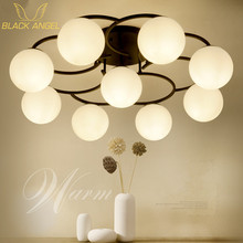 Ретро потолочный светильник круглый СВЕТОДИОДНЫЙ потолочный светильник современный минималистский гостиной свет столовая кухня круглый потолочный светильник спальня