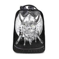 New Fashion Waterproof Pu Leather Backpack Warrior Rivet Back Pack Women S Backpacks For Teenage 3d