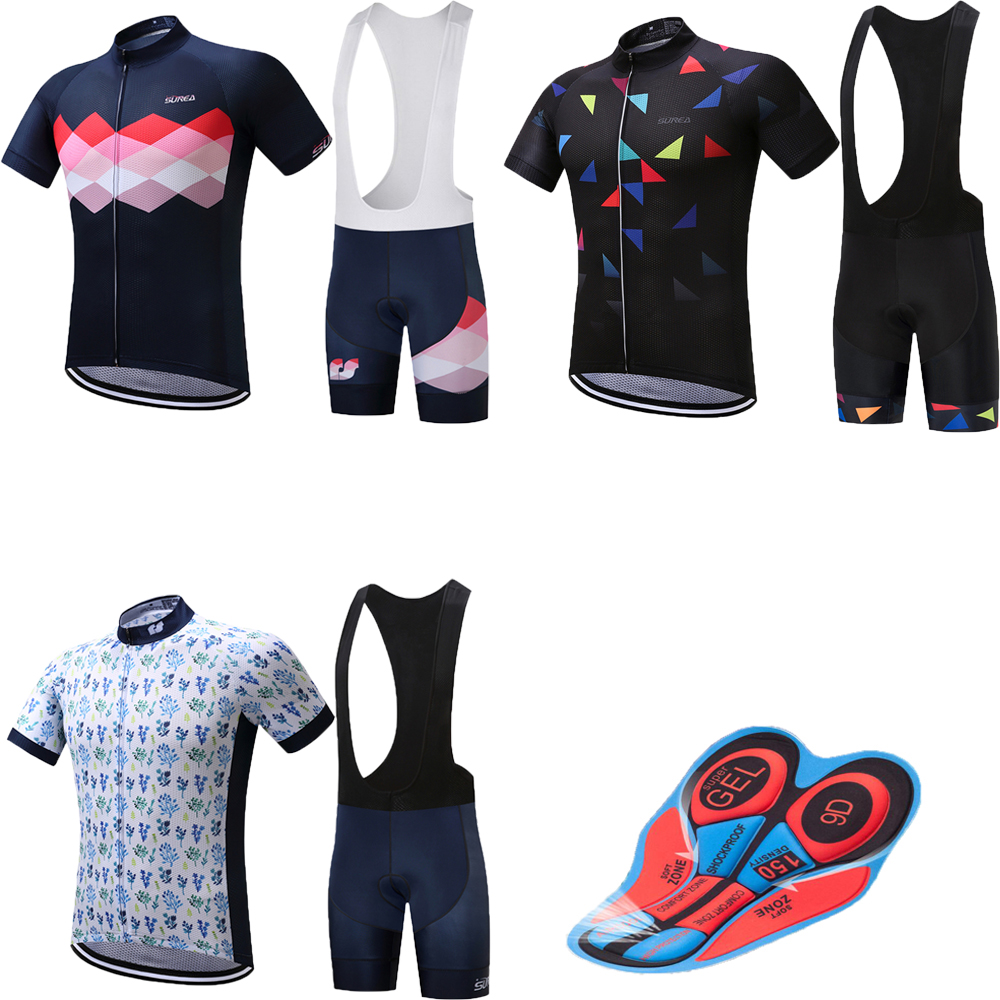 Men's summer short sleeve cycling jersey set 2018 maillot mtb mountain bike clothing bicycle wear sport clothes kit pro dress 44pcs set mountain bike patchs maintenance repair box diagnostic tools kit valuables cycling chain case bicycle accessories