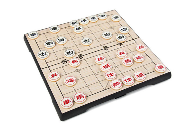 New Portable Chinese Chess Set Magnetic Foldable Board Game 25*25*2 Cm  Xiangqi Travel Chess Game For Entertainment