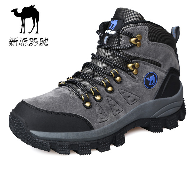 2015 Fall And Winter Genuine Leather Outdoor Hiking Shoes High Help Men Camping Sport Shoes Brand Boots Big Size 38- 45 In Stock