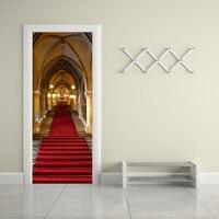 Funlife pegatinas de las Puertas de Paso Escalera de Caracol Escalera de Piedra Diseño de La Puerta Decal vinly etiqueta decoración para La Decoración Casera