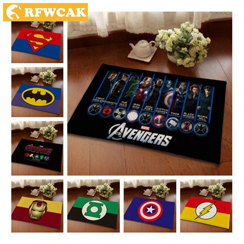 RFWCAK di Alta qualità Captain America Avengers anti-skid tappeto Zerbino s flanella Camera Dei Bambini Complementi Arredo Casa Pavimento Zerbino Assorbimento di Acqua zerbino