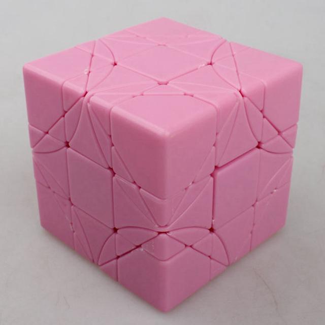 Fangshi Divertimentos LimCube DIY Super Skewb Dreidel 3x3x3 Velocidade Cubo Mágico Cubos De Jogo Brinquedos Educativos para crianças Crianças-Rosa