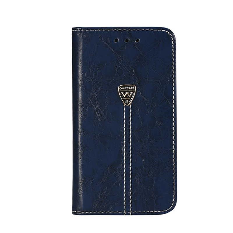 Vintage cartera caso para DEXP Ixion M340 4,0 pulgadas PU cuero Retro Flip Cover magnético casos de moda