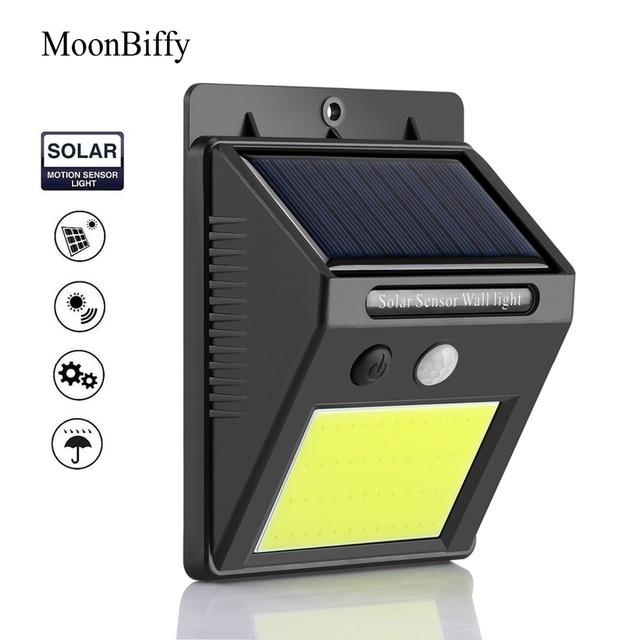 1pc Wholesale Dropshipping MOONBIFFY 48 LED Solar Light Human Infrared PIR Motion Sensor Wall Lamp Security Outdoor Lighting