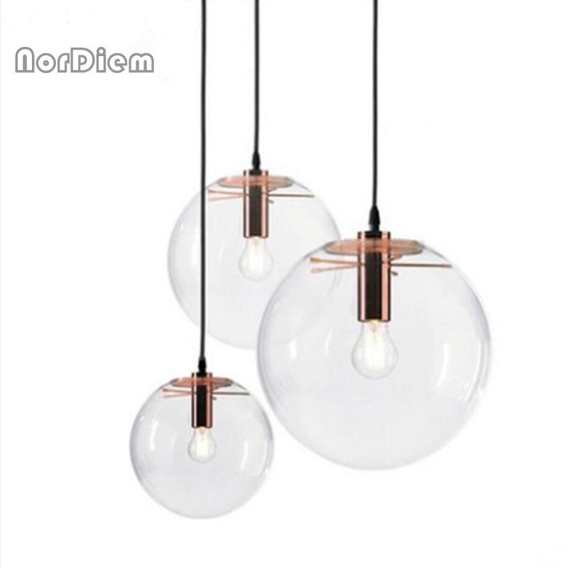 Clear Globe Pendant Light Fixtures