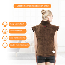 Electric Heating Moxibustion Shawl Far Infrared Physiotherapy Vest Back Support Heating Pad Suitable For Back Pain Relief Care недорого