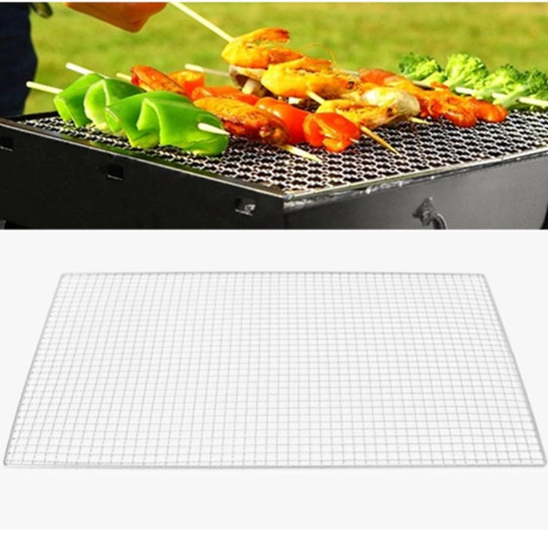 Light Weight 3 Size BBQ Grill Cooker Replacement Stainless Steel Wire BBQ Mesh Outdoor C ...