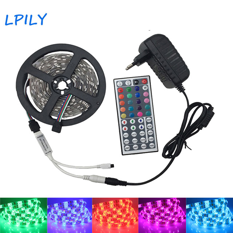 LED Strip Light 5050 2835 5M 10M Diode LED Tape RGB LED Strip Waterproof 12V LED Ribbon Light with Controller and Adapter sets