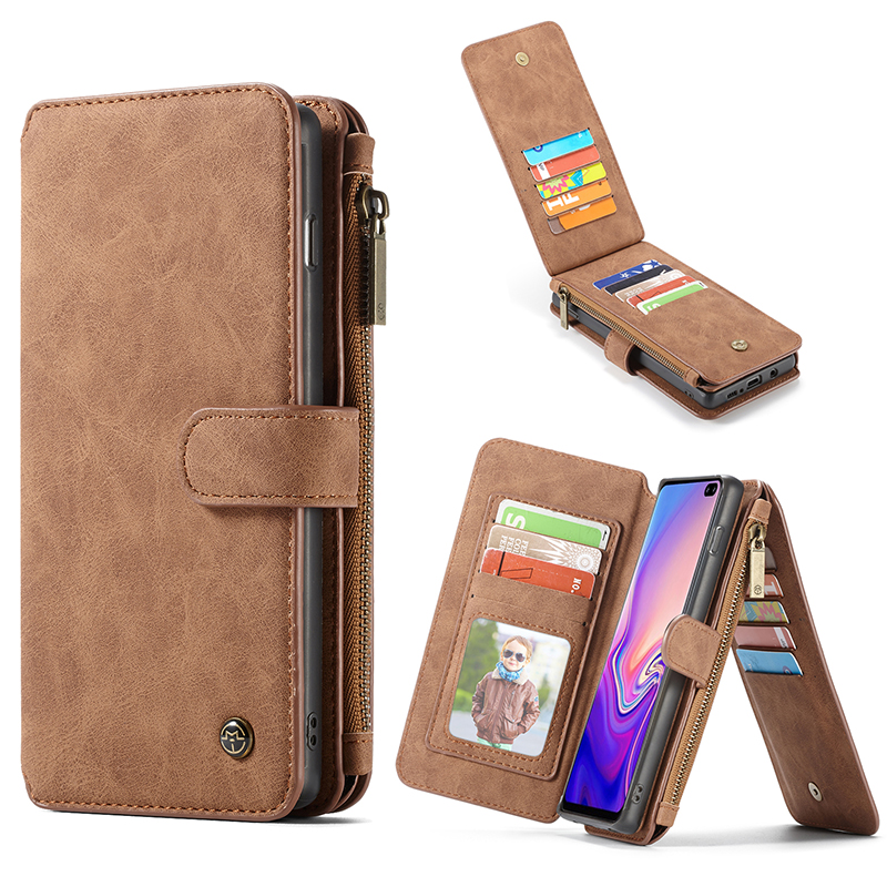14 Card Holder Leather Case For Samsung Galaxy S10 Plus S10e S9 S8 Plus S7 edge Note 9 8 Magnetic Wallet Cover Flip Phone Cases