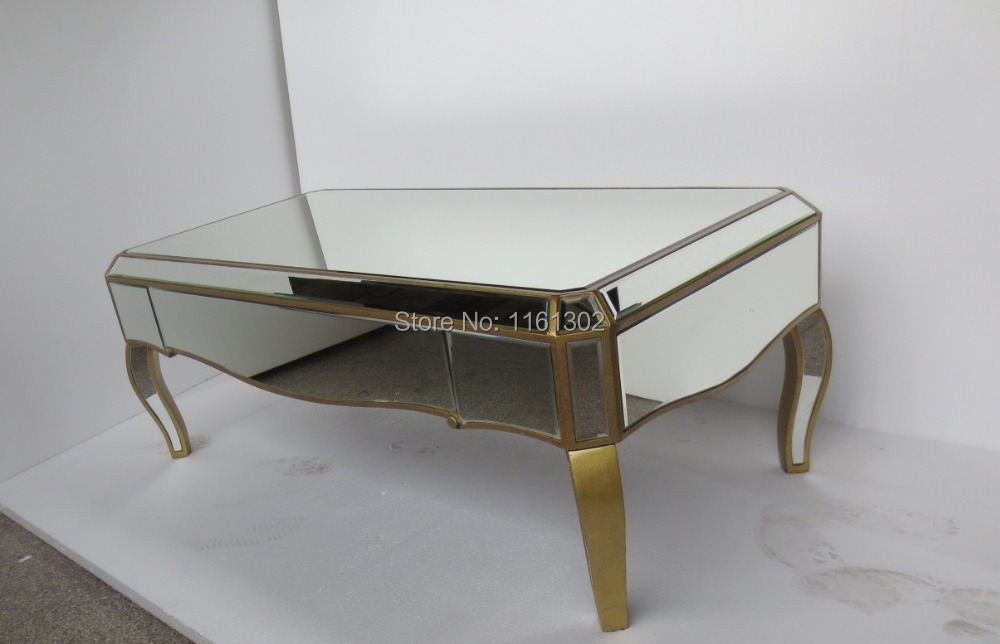 Mirrored living room furniture coffee table-in Coffee ...