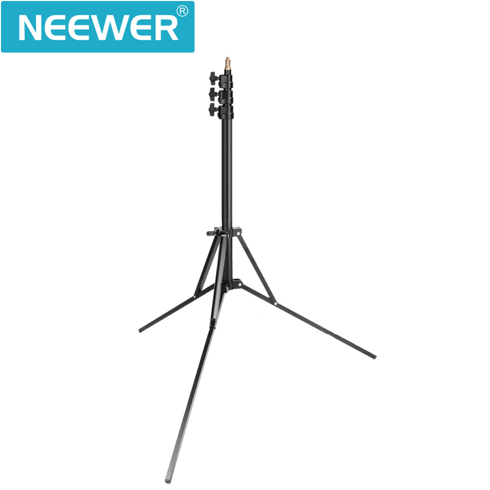 Neewer Photo Studio Ring Light Stand Adjustable 35-83 inch Heavy Duty Support Stand for Softbox Umbrella Strobe Light Reflector hpusn photography studio heavy duty 280cm light stand lightting kit for flash softbox umbrella support 3 direction mount