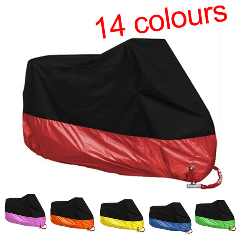 S M L XL 2XL 3XL 4XL New Motorcycle Covers Waterproof Breathable Outdoor Motorcycle Scooter Rain Coat UV Protective Covering