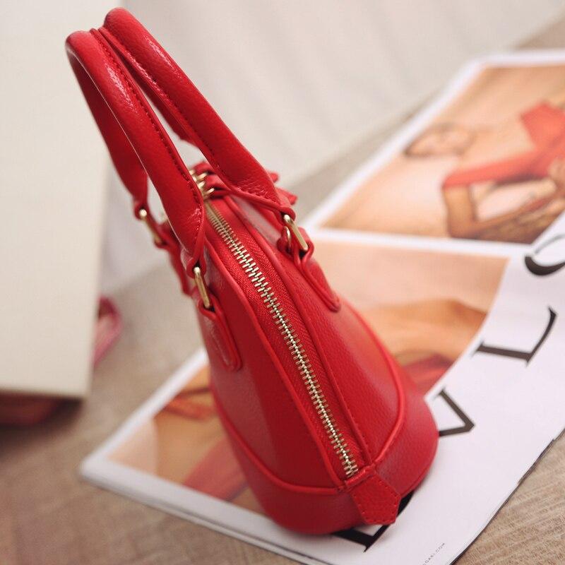 Womens bag 2018 spring and summer new red wedding bridal Bag Mini shell Bag Handmade Bridesmaid Bag Shoulder Bag