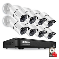 ZOSI Security Camera System 8ch CCTV System DVR DIY Kit 8 X 1080P Security Camera 2