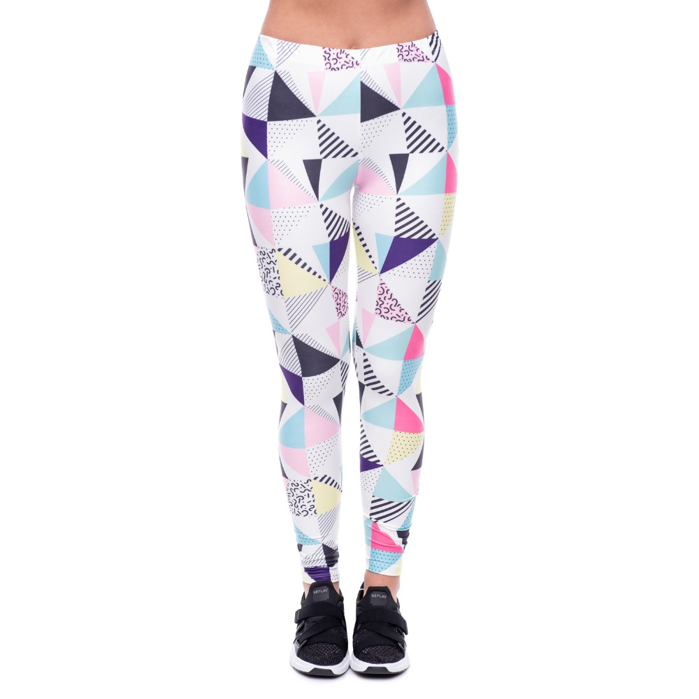cb7a2d1b20f423 Sweolso Mid Waist Leggings Sample Women's Polychromatic triangle Stitching  Legging Digital Print Pants Trousers Stretch Pant -in Leggings from Women's  ...