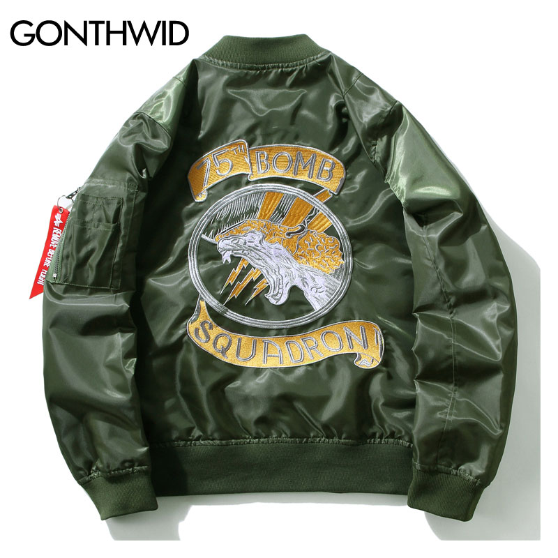 Gonthwid embroidery dragon bomber jackets mens ma