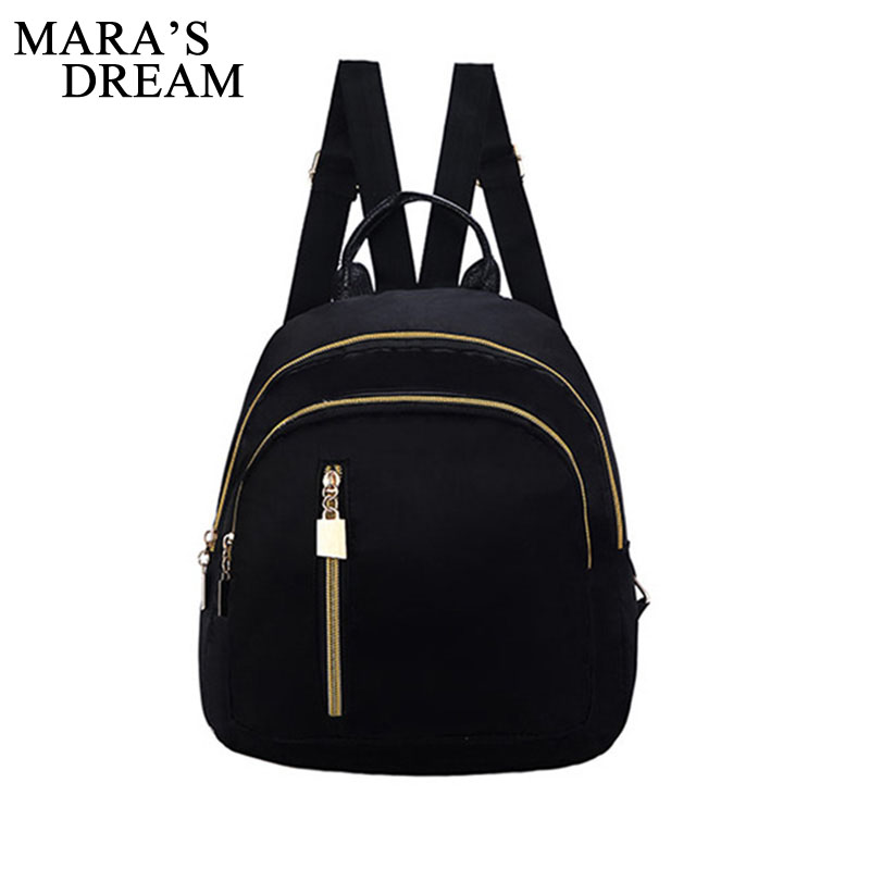 Mara's Dream Small Waterproof Oxford Women Backpack Fashion Black Shoulder Back Bag Preppy Style Backpacks For Teenage Girls