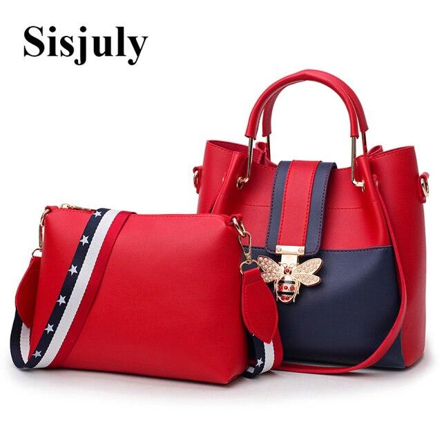 f3ec76f0927 US $24.58 48% OFF|2019 Fashion Women Bag Sets Bee Pearl Female Luxury  Handbags Designer Big Ladies Shoulder Bag Famous Brands Leather Casual Tote  -in ...