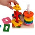 Дети Образовательные Дошкольные Игрушки Деревянные Строительные Блоки Укладки Колонки Обучения Интеллектуальной Развивающие Детские Игрушки