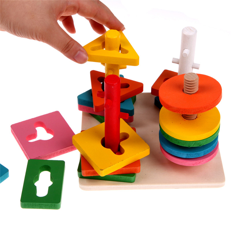 Educational Toys Nursery : Kids educational preschool toys wooden building blocks