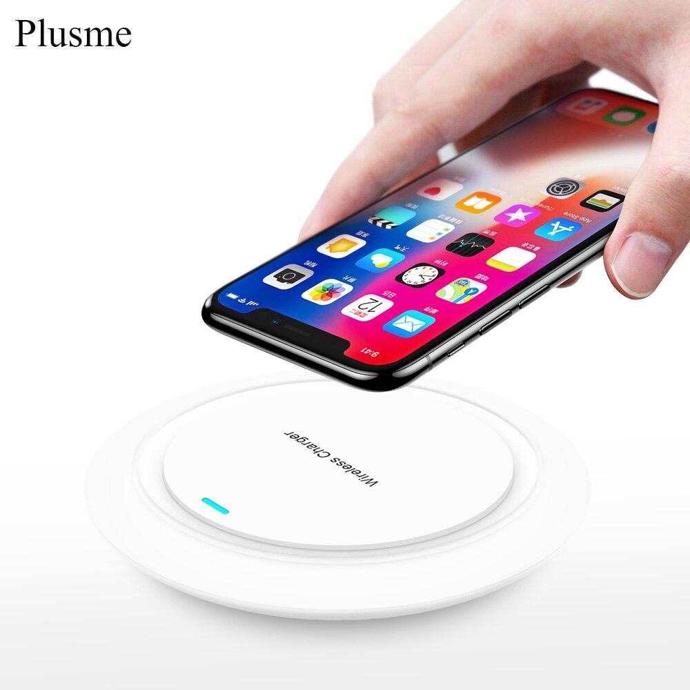 Plusme Mini Qi Sans Fil Chargeur USB Charge Pad Pour Samsung Galaxy S8 S9 A8 Plus S6 S7 Bord Note 8 elephone P9000 iPhone X 8 Plus