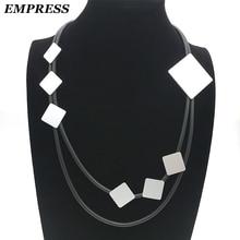 Императрица, новинка, ожерелье, сделай сам, ювелирное изделие, женское, Гламурное,, ручная работа, квадратное колье, винтажное, мягкая пена, алюминиевое ожерелье, подарок