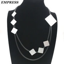Empress New Necklace DIY Jewelry Womens Glamour 2018 Claims Handmade Square Kolye Vintage Soft foam Aluminum Gift
