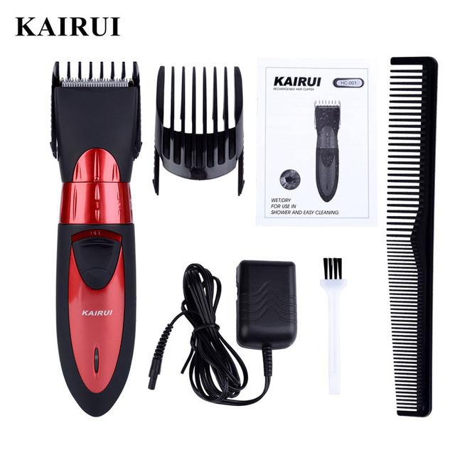 Eléctrica recargable Hombres afeitadora Clipper Pelo Trimmer de Afeitar Hoja de acero Inoxidable máquina de Corte Cortador de peluquero para cortar el cabello