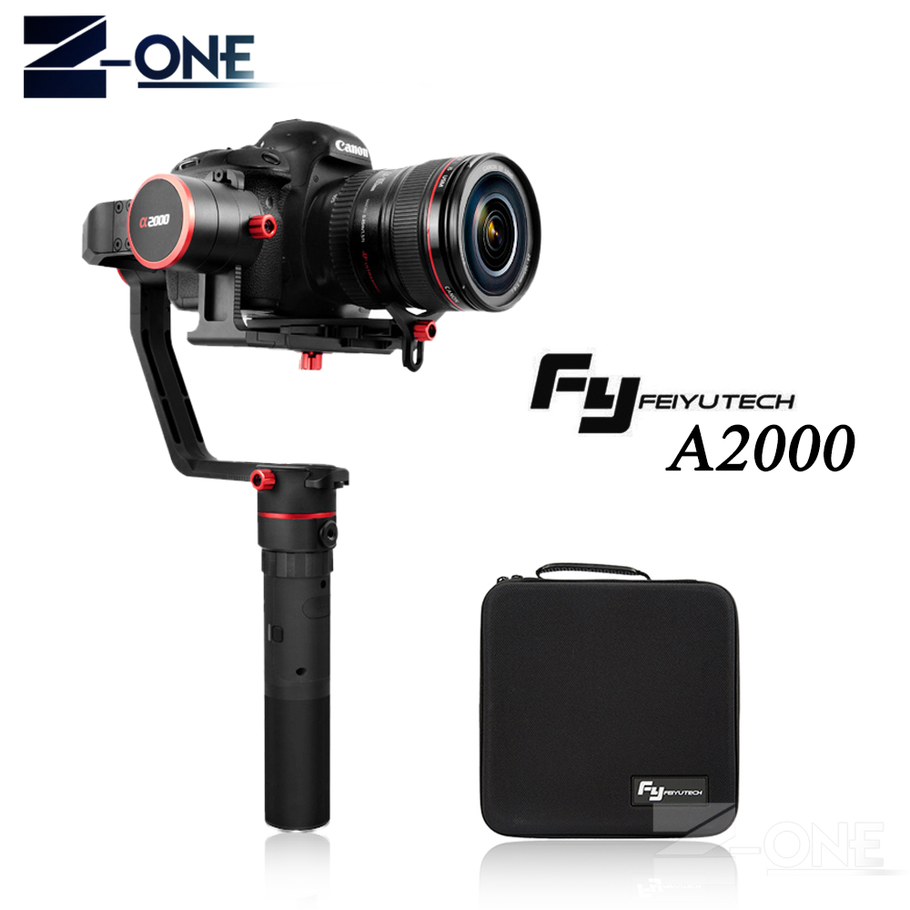 FeiyuTech FEIYU a2000 3 Axis Gimbal DSLR Camera Stabilizer Dual Single Handheld Grip for Canon 5D SONY Nikon 2000g Payload feiyu a2000 3 axis gimbal steadicam dslr camera dual handheld stabilizer for grip voor canon 5d sony panasonic 2000g