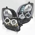 Yaris LED Angel Eyes farol para 2006 a 2010 para TOYOTA Yaris Vitz