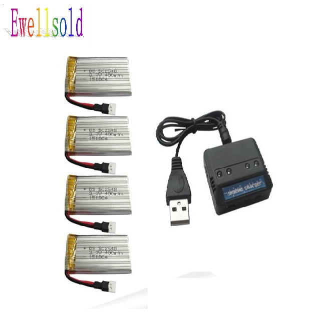 Ewellsold H21 2.4G 4 channels RC Quadcopter/RC done 3.7V 400mah Li-polymer battery*4pcs+4 in 1 charger box free shipping