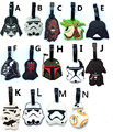 SWDF 2016 Lovely Cartoon Star Wars Stormtrooper and the Black Knight Suitcase PVC luggage tags Travel tag name Anti-Lost 1 piece