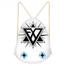 ThiKin Women Men Drawstring Bag Kpop EXO Logo Backpack Boys Girls Storage Package Custom bags Bolso Tela Mujer de Cuerdas
