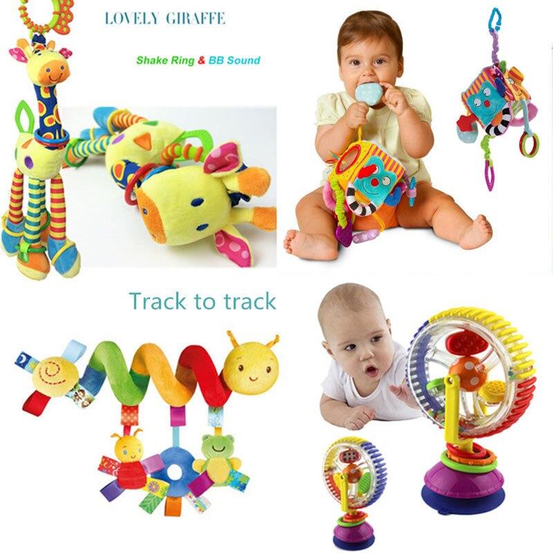 Weiche Baby Spielzeug 0-12 Monate Musicical Krippe Bett Kinderwagen Spielzeug Spirale kinder Spielzeug Für neugeborene Bildung Spielzeug kleinkind bett Glocke rasseln