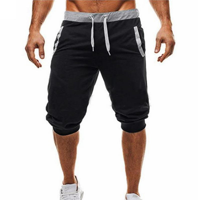 Summer Men Casual Sweatpants Shorts 1/2 Trousers Short Fitness Clothing Bodybuilding Men Shorts Soft Cotton Trousers Shorts XXXL